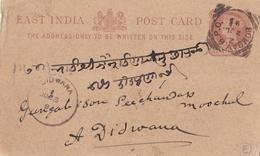 INDES ANGLAISES :  Entier Postal Victoria De Bombay De 1892 écrit En Langue Locale - 1882-1901 Imperio