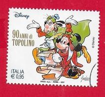 ITALIA REPUBBLICA USATO - 2017 - 90 Anni Di Topolino - Topolino E Pippo Nei Panni Di Dante E Virgilio - 0,95 € - S. 3791 - 6. 1946-.. Republic