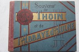 Livre Souvenir De THUIN Et ABBAYE D'AULNE Grandes Cartes Postales Colorisée Hainaut - Cultuur