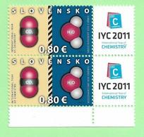 4500  --  SLOVAQUIE - 2011  N° 569** (2x) Neufs - Slovakia