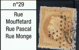 N°28 Etoile 29 Belle Frappe Beau Timbre Sur Fragment - 1862 Napoléon III