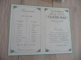 CHARLEVILLE ARDENNES Programme Fête De Saint Eloi Grand Bal 30/11/1879 Circulé TP Type Sage Au Dos - Programmi