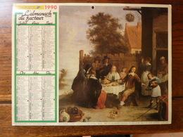 Calendrier, Almanach Du Facteur - La Poste - 1990 - Canal Gelé En Hollande - Parabole De L'enfant Prodigue - Autres