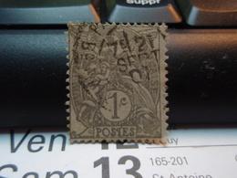 Timbre 1 Centime Type Blanc  Oblitéré 21 Septembre 1901 - 1900-29 Blanc