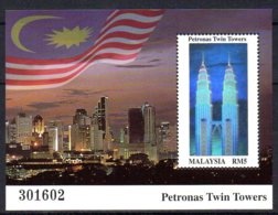 2000, Malaisie, Twin Towers, Tour Petronas, Drapeau - Malesia (1964-...)
