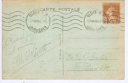 LOIR Et CHER - Flamme Muette Ondulée Continue BLOIS - R P Du 17 VIII30 - Marcophilie (Lettres)