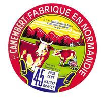 ETIQUETTE De FROMAGE..CAMEMBERT Fabriqué En NORMANDIE.. S.L.H à SAINT MARTIN De SALLEN ( Calvados 14) - Cheese