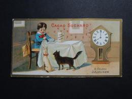 CHROMO.  Chocolat  SUCHARD.  Heures De La Journée D'un Enfant.  8 Heures   Déjeuner. Horloge Sur Pied - Suchard