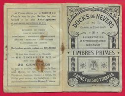 Carnet De Timbres Primes Des Docks De Nevers - Alimentation Et Approvisionnement Ménager - 1914-18