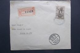 Portugal: 1949 Rgt. Cover To Ponte De Sor (#DW2) - 1910-... Republic
