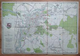 Poland Pologne Polen Jelenia Gora Hirschberg City Map Carte De La Ville Stadtkarte 1945 - Altri