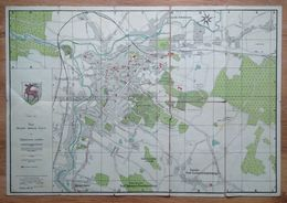 Poland Pologne Polen Jelenia Gora Hirschberg City Map Carte De La Ville Stadtkarte 1945 - Sonstige