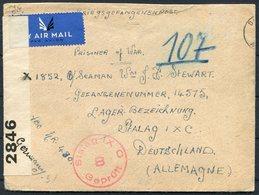 WW2 GB Dundee Censor Airmail Cover - Seaman Stewart, Stalag IX-C POW Camp Germany. British Sailor Prisoner Of War - 1902-1951 (Rois)