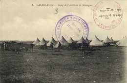CASABLANCA  Camp De L'Artillerie De Montagne Cachet Regiment D'Infanterie RV  Cachet Troupes Du Maroc Occidental - Casablanca