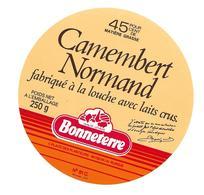 ETIQUETTE De FROMAGE..CAMEMBERT NORMAND ( Orne 61 C).. BONNETERRE - Fromage