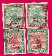 4505  --  SOUDAN  Timbre De Service - 1912  N° 32+38 (2x) Oblitérés - Soudan (1954-...)