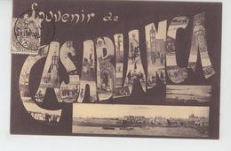 """AFRIQUE - MAROC - Jolie Carte Vues Multiples """"Souvenir De CASABLANCA """" - Casablanca"""