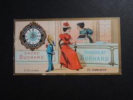CHROMO.  Chocolat  SUCHARD.  Heures De La Journée D'un Enfant. 3 Heures.   En Commission. Confiserie Chocolaterie. - Suchard