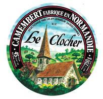 ETIQUETTE De FROMAGE..CAMEMBERT Fabriqué En NORMANDIE ( Orne 61 C)..Le Clocher..sélectionné Ets LEPAREUR à VANNES (56) - Cheese