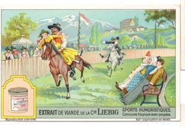 "S1232- CHROMO LIEBIG - 1929 -  "" SPORTS HUMOURISTIQUES "" : CONCOURS HIPPIQUE AVEC POUPEES - Liebig"