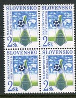 SLOVAKIA 1994 Football World Cup Block Of 4 MNH / **.  Michel 193 - Nuevos