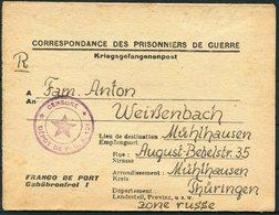 1947 France St.Paul D`Eyjeaux Prisonniers De Guerre, Kriegsgefangenenpost.Depot 121,Hte Vienne - Weissenbach Mulhausen. - France