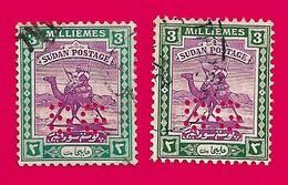 4508  --  SOUDAN  Timbre De Service - 1927  N° 46 (2x) Oblitérés - Soudan (1954-...)