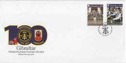 Gibraltar On FDC - Militaria