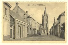 A0445[Postkaart] Leffinge / Oostendestraat. / La Rue D'Ostende (Nels, Verstraete, Photo R. Muyle) [kerk Middelkerke] - Middelkerke