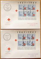 "Schweiz 1963: Zu WIII 40 Mi Block 19 Yv BF 19 ""Rotes Kreuz / Croix Rouge"" Mit O GENÈVE 8.MAI 63 & CONGRÈS 28.VIII.63 - Croix-Rouge"