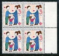 SLOVAKIA 1994 Year Of The Family Block Of 4 MNH / **.  Michel 188 - Nuevos