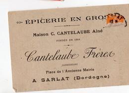 Sarlat (24 Dordogne) Petit Dépliant EPICERIE CANTELAUBE   (PPP21245) - Calendriers