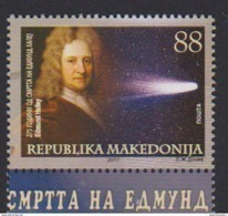 MACEDONIA, 2017, MNH,  SPACE, HALLEY'S COMET, 1v - Astronomy