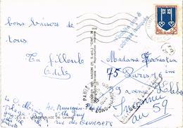 MIMIZAN PLAGE (40) Diverses Vues Avec Carte Département - Très Très Rare - Nombreux Cachets - Carte Postée En 1966 - Mimizan Plage