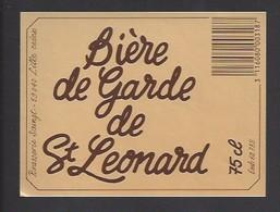 Etiquette De Bière De Garde    -  Saint Léonard -   Brasserie Saingt à Lille   (59) - Beer