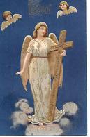 Angel, Ange, Engel, Angelo, Cherub, Chérubin, Cross, Faith, Glaube, Foi / Embossed And With Golden Details - Angeli