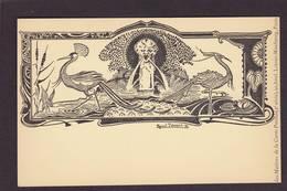 CPA Maitres De La Carte Postale Par Raoul THOMEN Art Nouveau Non Circulé Voir Scan Du Dos - Publicité