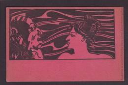 CPA Maitres De La Carte Postale Par HK Art Nouveau Non Circulé Voir Scan Du Dos - Publicité