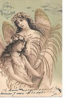 Angel, Ange, Engel, Angelo / Embossed And With Golden Details - Angeli