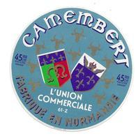 ETIQUETTE De FROMAGE..CAMEMBERT Fabriqué En NORMANDIE ('ORNE 61-Z)..L'Union Commerciale - Cheese