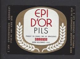 Etiquette De Bière  Pils   -  Epi D'Or -   Brasserie Semeuse à Hellemmes Lille   (59) - Beer