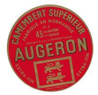 ETIQUETTE De FROMAGE..CAMEMBERT Fabriqué En NORMANDIE.. Augeron - Cheese