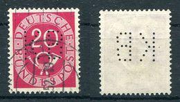 """Deutschland Michel-Nr. 130 Perfin """"KB"""" Gestempelt - Gebraucht"""