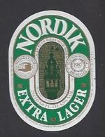 Etiquette De Bière Extra   -  Nordik -   Brasserie Semeuse à Hellemmes Lille   (59) - Beer