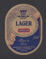 Etiquette De Bière    -  Lager -   Brasserie Semeuse à Hellemmes Lille   (59) - Beer
