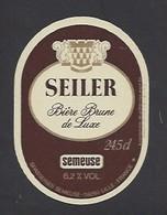 Etiquette De Bière Brune   -  Seiler -   Brasserie Semeuse à Hellemmes Lille   (59) - Beer