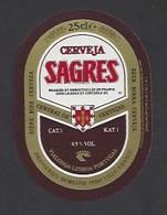 Etiquette De Bière   -  Sagres  -   Brasserie Semeuse à Hellemmes Lille   (59) - Beer
