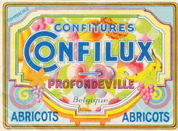 """Confitures  """"Confilux""""  Profondeville - Etiquettes"""