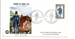 FDC 1968 JOURNEE DE TIMBRE - ROCHEFORT - FDC