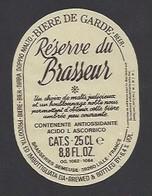 Etiquette De Bière De Garde   -  Réserve Du Brasseur -   Brasserie Semeuse à Hellemmes Lille   (59) - Beer